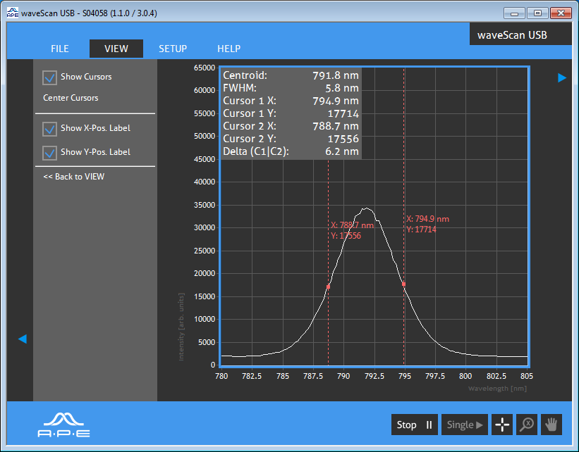 Spectrometer for Mid-IR, NIR, IR, VIS and UV - APE
